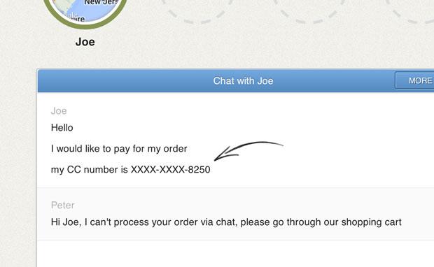 live chat kredi kartı güvenlik sistemi