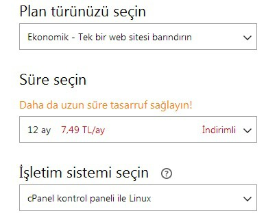 godaddy paket özellikleri cpanel linux