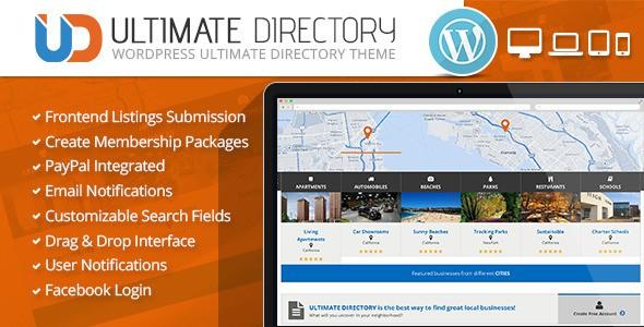 ultimate directory wordpress temasi