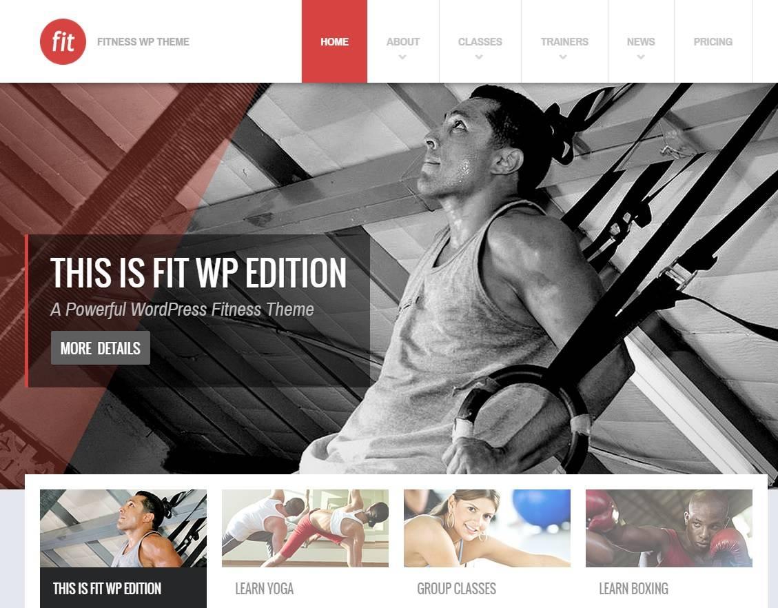 en iyi wordpress fitness spor salonu teması