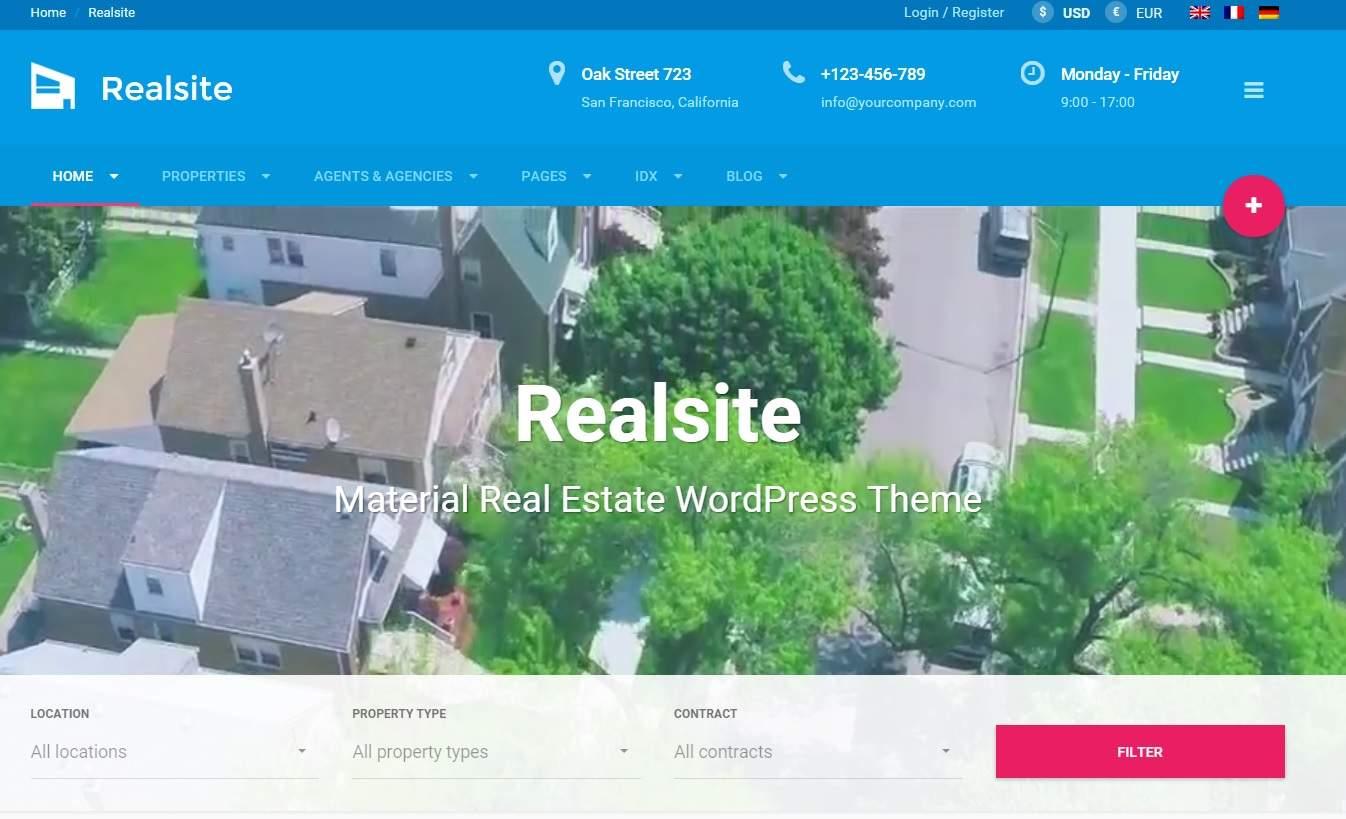 realsite wordpress emlak temasi