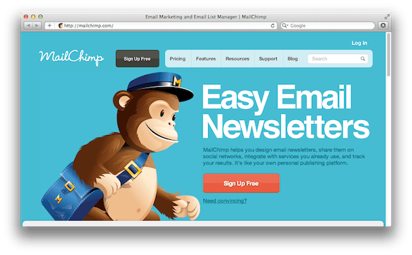 mailchimp firması ile mail gönderme