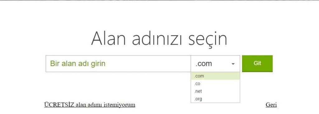 godaddy hosting satin alırken ücretsiz alan adı da kayıt ettirebilirsiniz.