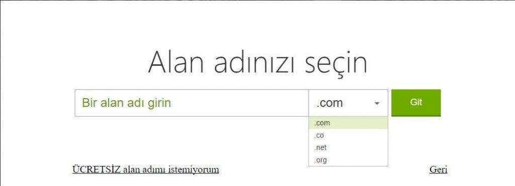 godaddy hosting satın alırken ücretsiz olarak alan adı kayıt ettirme işlemi