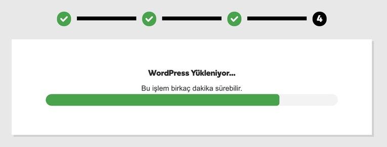 wordpress yüklenirkenki adımlar