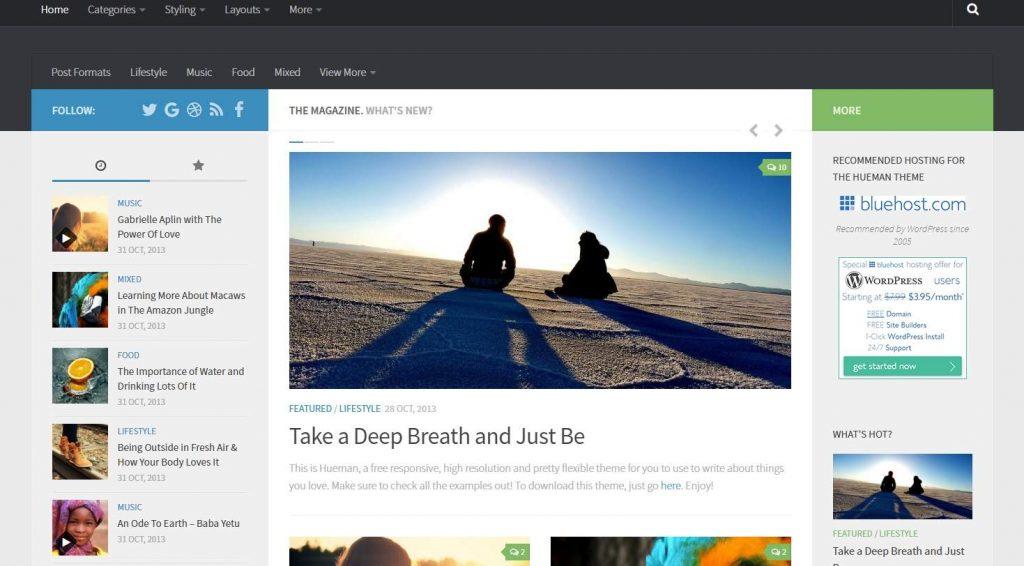 ücretsiz wordpress hueman temasını indir ve kullanmayı öğren