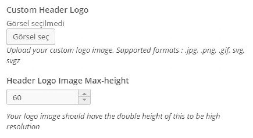 wordpress siteye nasıl logo yüklenir