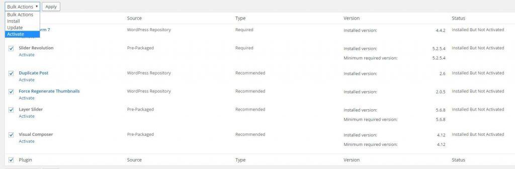 wordpress eklentileri nasıl aktif hale getirilir.