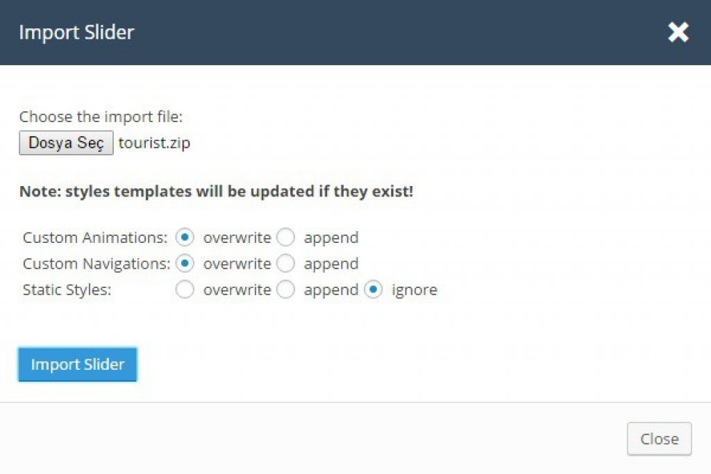 wordpress sitede slider ekleme