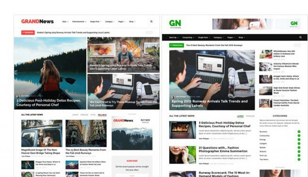 wordpress grand news haber teması