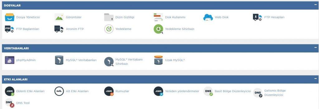 hostgator cpanel hosting arayüz bilgileri