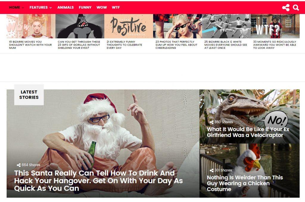 Wordpress haber teması olarak kullanabileceğiniz bimber viral teması