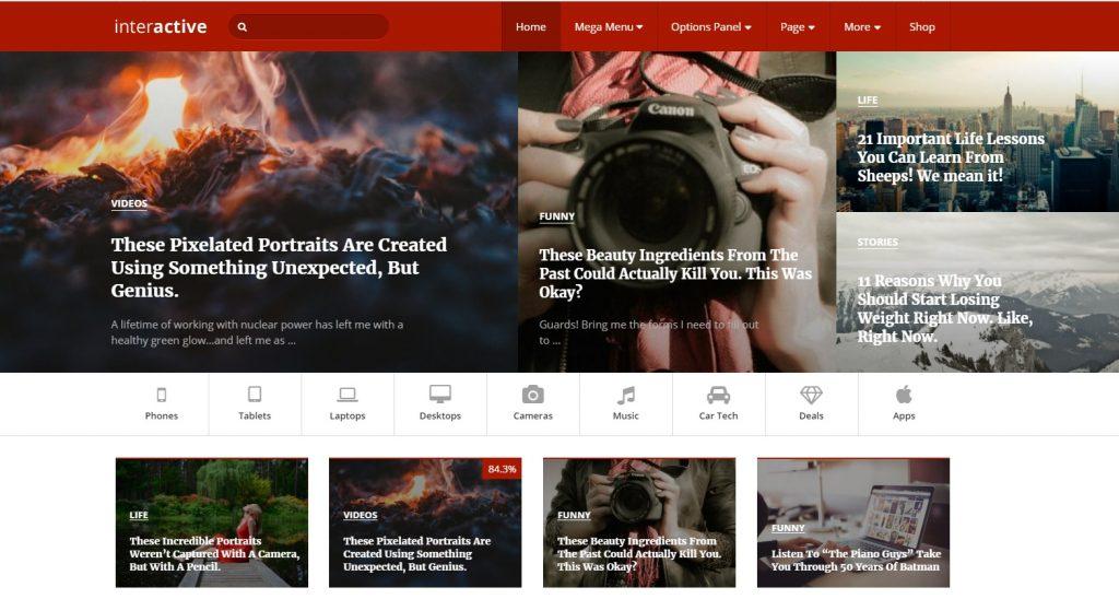 interactive wordpress viral haber temasi