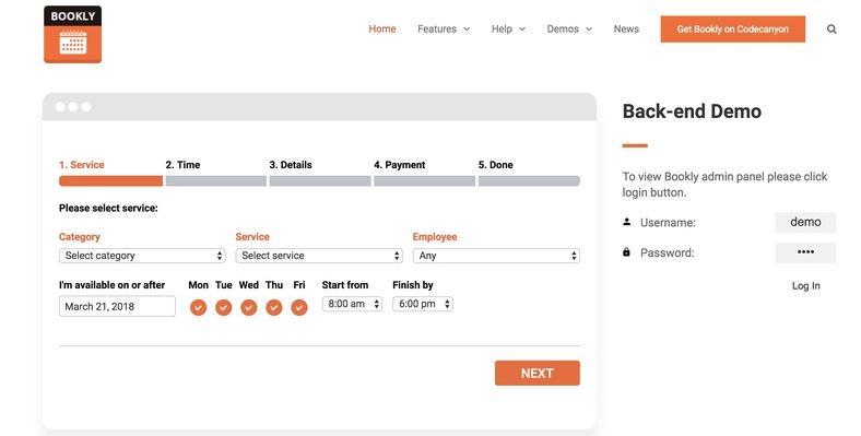 bookly booking ile her kategoride rezervasyon kabul edebilirsiniz.