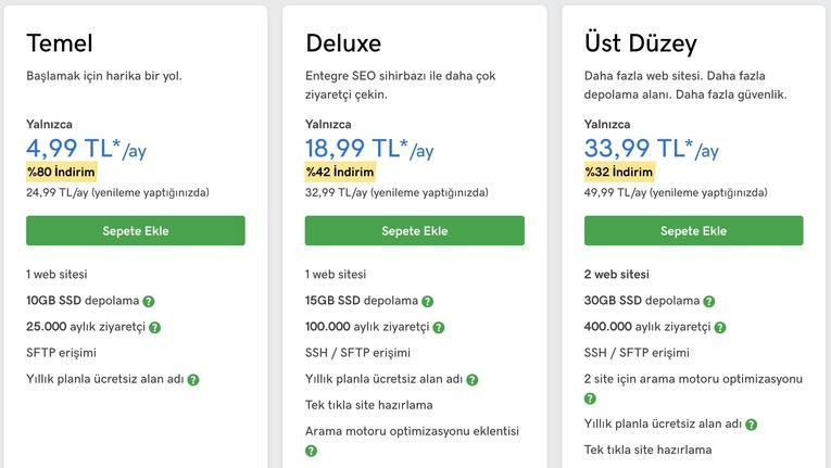 godaddy ile blog açarken tecih edebileceğiniz ideal hosting paketi wordpress olmalıdır.